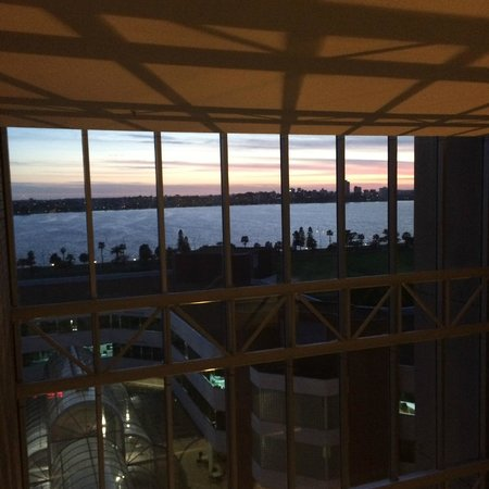 Hyatt Regency Perth : A view over the Swan on way to room.