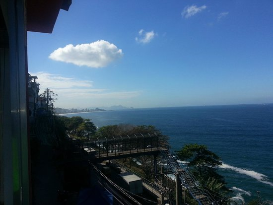 Vidigalbergue Rio Hostel: view for breakfast