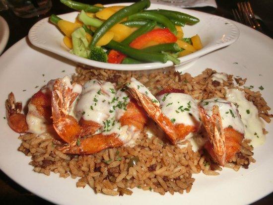 Ralph & Kacoo's : Shrimp Brochette (with frozen microwaved veg)