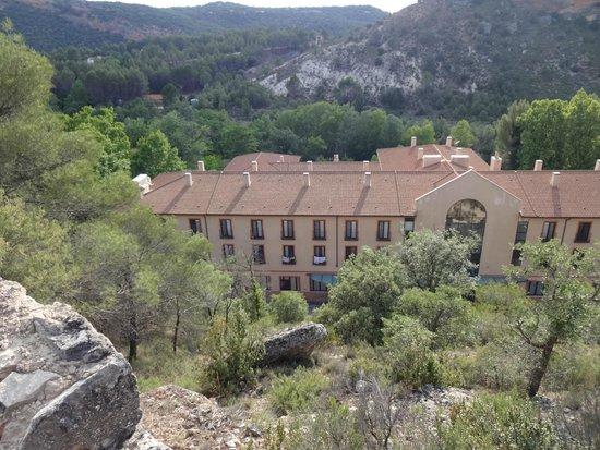 Hotel Balneario TermaEuropa Carlos III : Vista des del monte