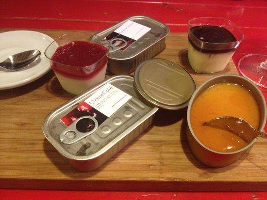 La Bulla: Desserts dans boîtes à sardine!