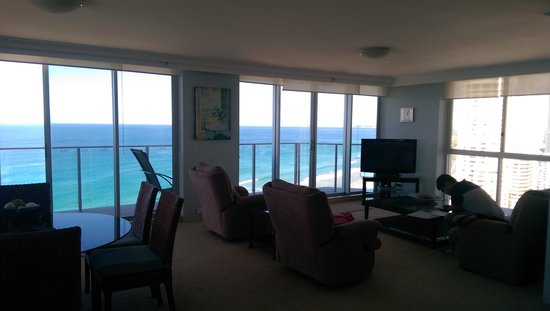 Hi Surf Beachfront Resort Apartments: View from the living room
