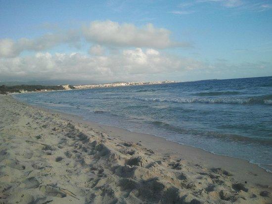 Hotel La Playa: Strand mit Blick auf Alghero