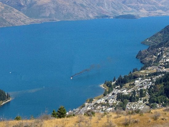 Queenstown Hill : The 'Earnslaw' coming into dock!