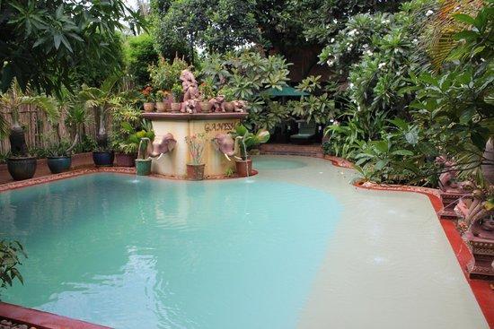 HanumanAlaya Boutique Residence - TEMPORARILY CLOSED : Ganesha Swimming Pool with total green surrounding