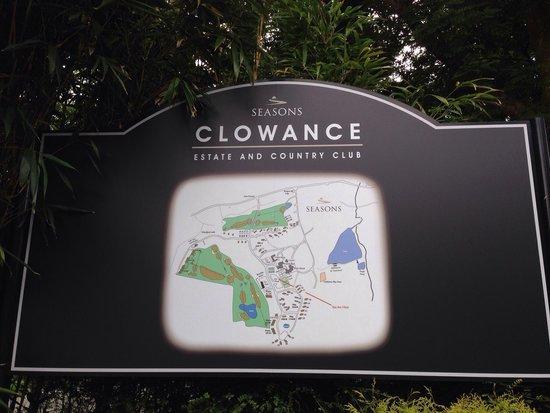 Clowance Estate: Map of estate