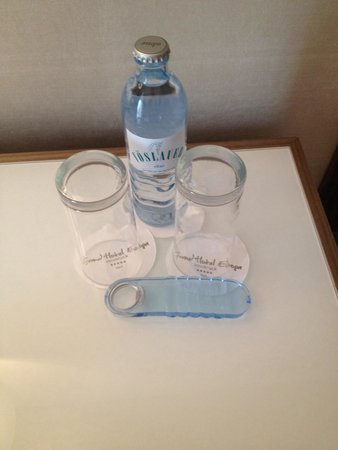 Grand Hotel Europa: Welcome water