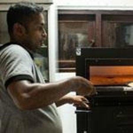 Tartaruga Hotel & Beach Restaurant: making pizza in our kitchen.