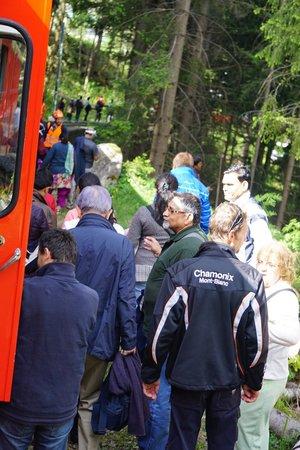 Montenvers - Mer de Glace train: Walking to the rescue train-Priceless