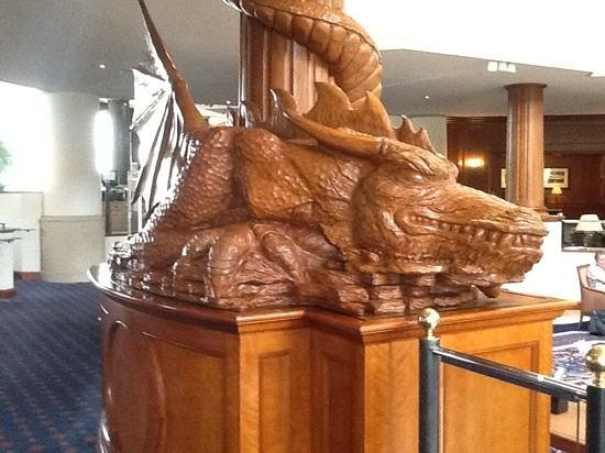 The Manor House at Celtic Manor: lobby dragon