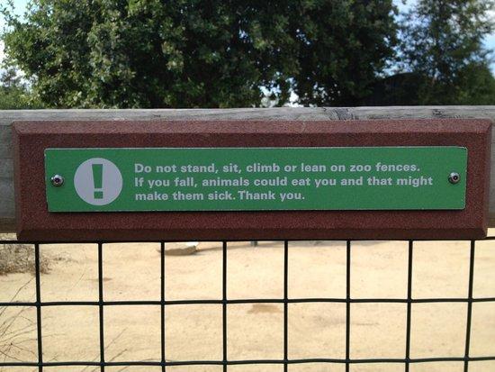 Dublin Zoo: Funny Sign