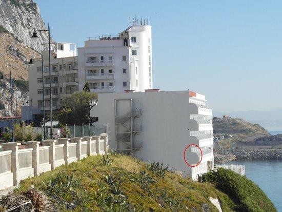 Caleta Hotel, room 128 circled, Jun 2014