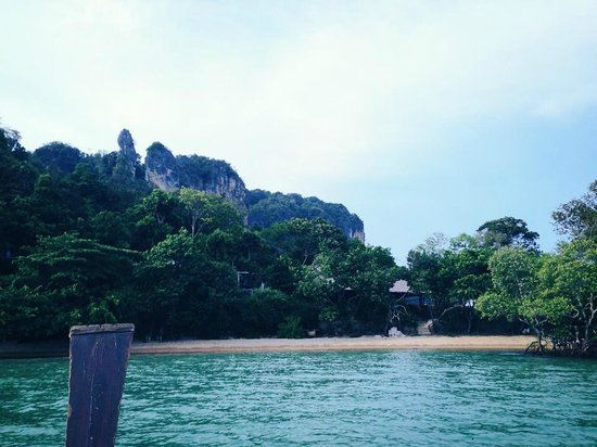 Railay Great View Resort and Spa: Boat ride up to the hotel
