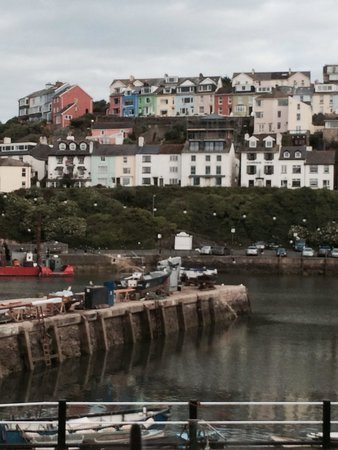 Brixham Fish Takeaway & Restaurant: View from the window of the restaurant upstairs.