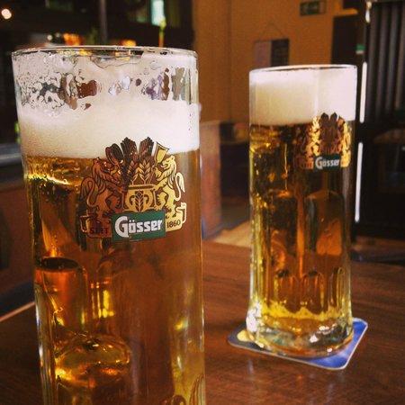 Pulkautaler Wein & Bierhaus: a couple of beers