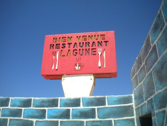 La Lagune : enseigne du restaurant