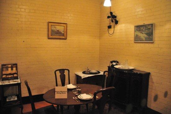 Churchill War Rooms: Churchill's dining room