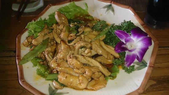 Nuage : plato de pollo con salsa dulce