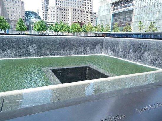 Memorial del 11S: Det ene af de to tårnes placering.
