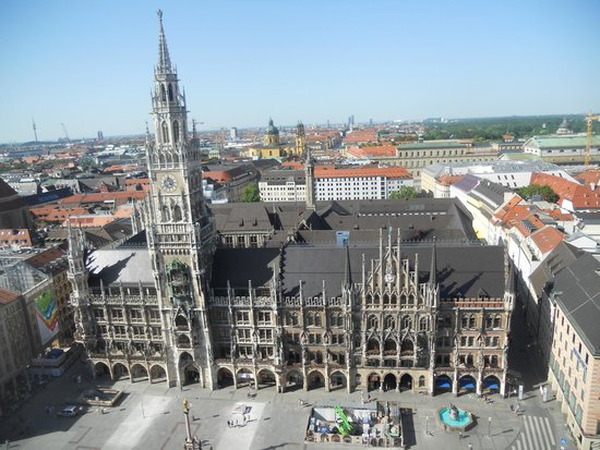 Neues Rathaus: view from St. Peter's tower