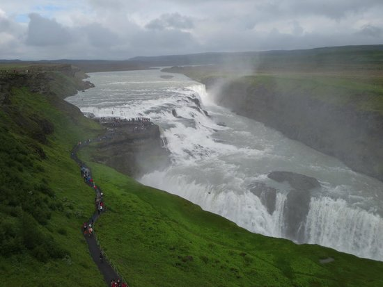 Gullfoss : Overview from upper walk