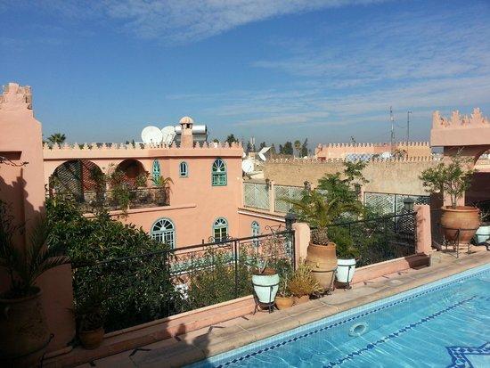 Riad Catalina : terraza