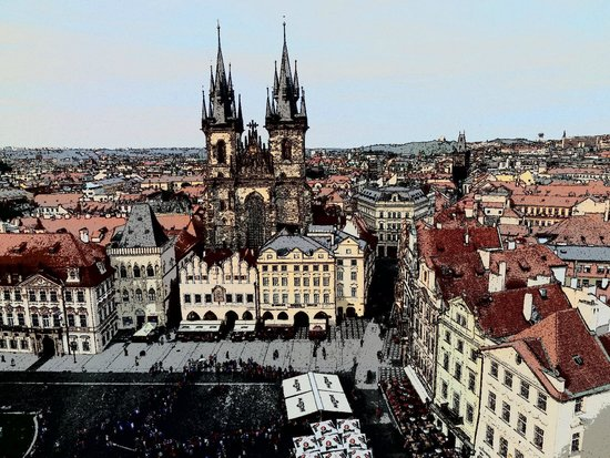 Art Hotel Prague: Old town square