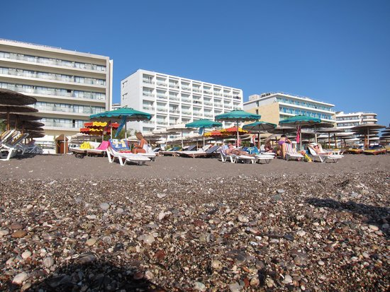 Ibiscus Hotel: Beach infront of the hotel