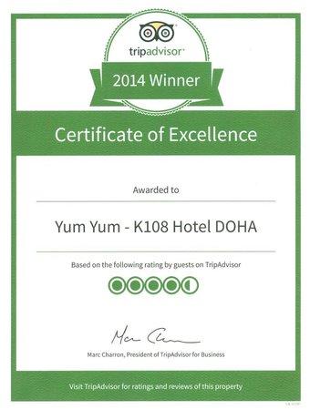 K108 Hotel: Winner of Execellent -2014