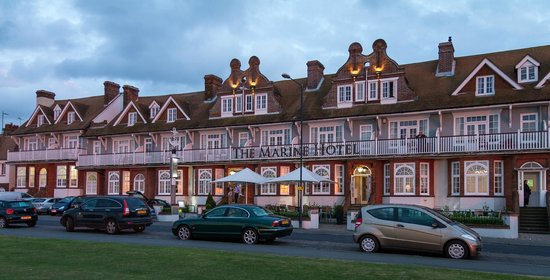 The Marine Hotel: Front View