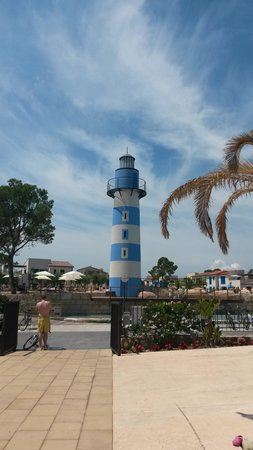 Cambrils Park Resort: Man Made Beach Area, Light House and pool 1