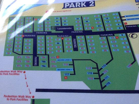 Talacre Beach Caravan Park: On site map park 2