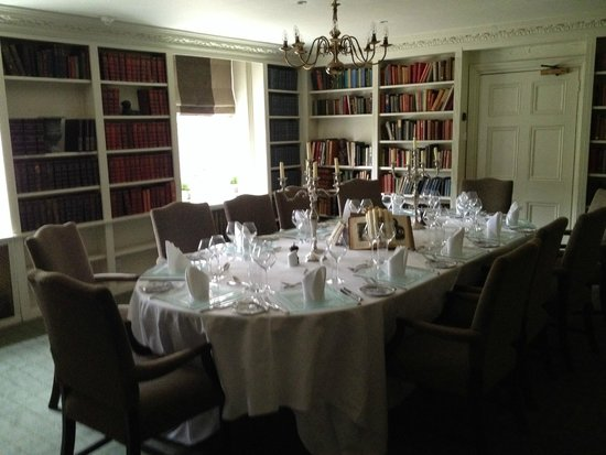 Chilston Park Hotel: Private dining area, in the Library