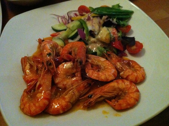 Balance Of Bowness: Garlic Sweet chilli king prawns