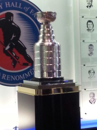 "Hockey Hall of Fame: ""Stanley cup"" not the real one obviously"