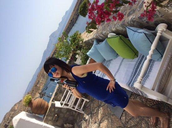 Melenos Lindos Hotel: Our Private Balcony