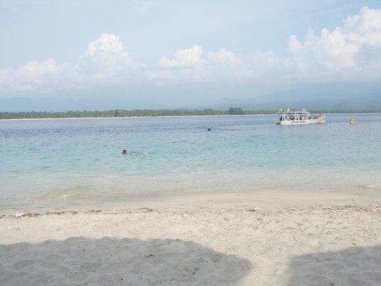 Scallywags Beach Club: uitzicht vanaf strandbedje