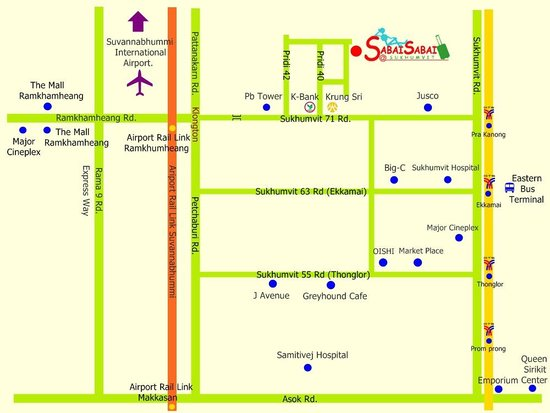 Sabai Sabai at Sukhumvit Hotel: Hotel Map