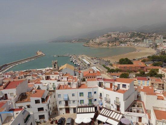 Castillo de Peñíscola: vista de el puerto