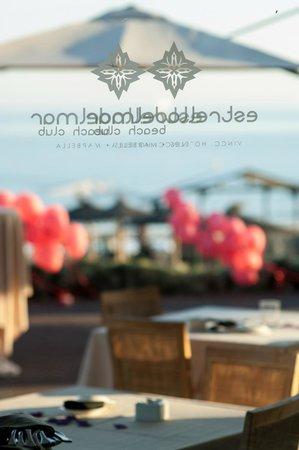 Estrella del Mar Beach Club: Terraza con globos