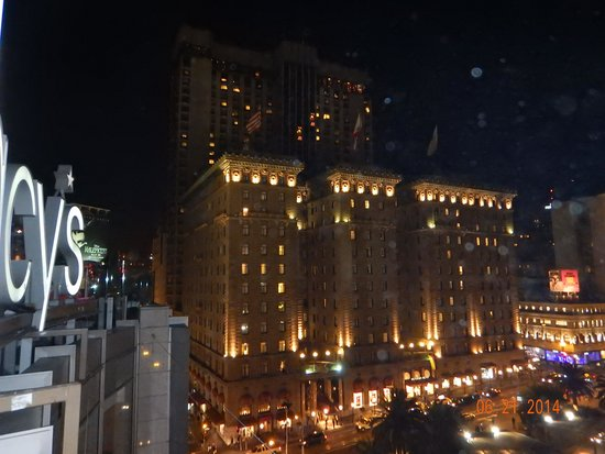 The Westin St. Francis San Francisco on Union Square: View of the hotel from the Cheesecake Factory!
