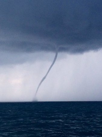 Tilden's Scuba Center: Water spout seen from dive boat.