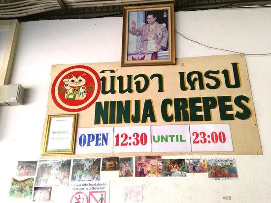 Ninja Crepes: L'enseigne