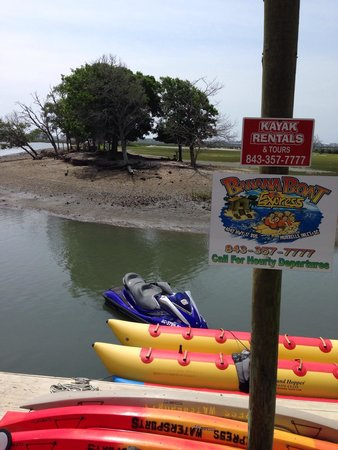 Express Watersports: Dockside at Murrell's Inlet.