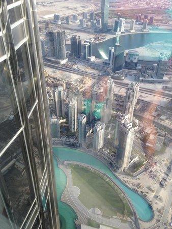 Dubai Fountains: Vue de Burj Khalifa