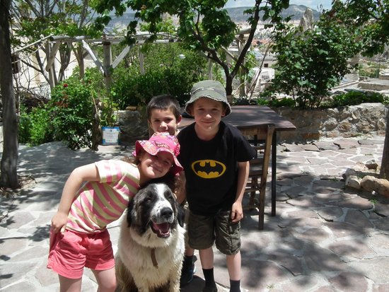 Fairy Chimney Inn: Panda, the resident dog, is a big hit with kids and adults