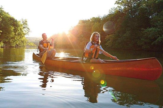 Canoeing Lake Springfield