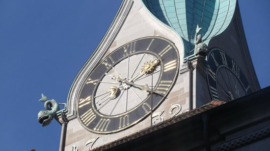Old Town (Altstadt): Clock Tower Zurich