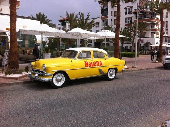Seafront promenade: Un bar branché sur la promenade façon Cubaine