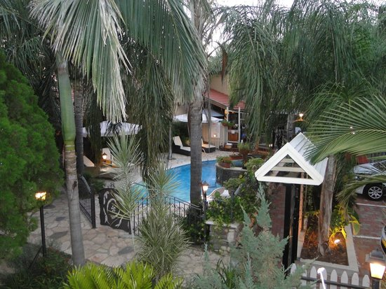 Out of Africa Resort Hotel: view of the swimming area from my room